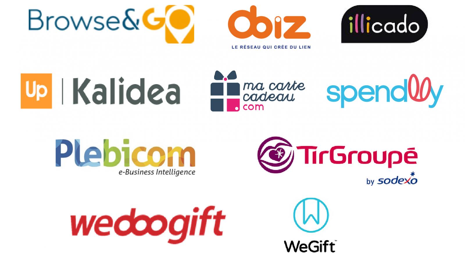 Logos partenaires distributeurs Bizgift