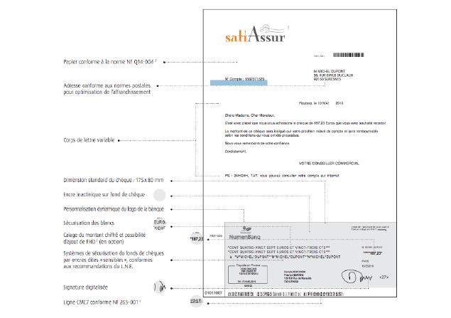 Personnalisation et sécurisation de lettre chèque avec l'offre Numen lettres chèques