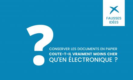 Conserver les documents en papier coute-t-il vraiment moins cher qu'en électronique ?